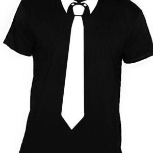 nyakkendős póló fekete