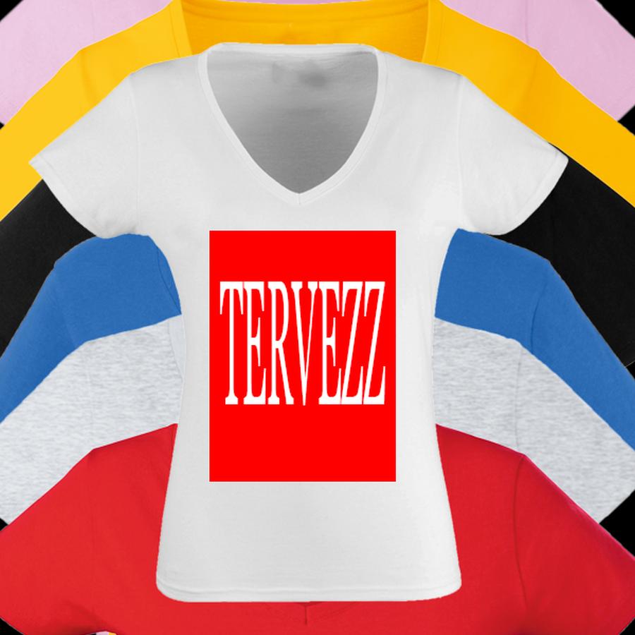 Egyedi Póló tervezés Női V Nyakú - Póló Idő - Egyedi pólók webáruháza b10911485a