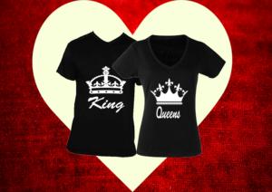 páros póló king and queen fekete