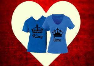 eb1561c7c8 king és queen póló - A Páros pólók kategóriában - Póló Idő