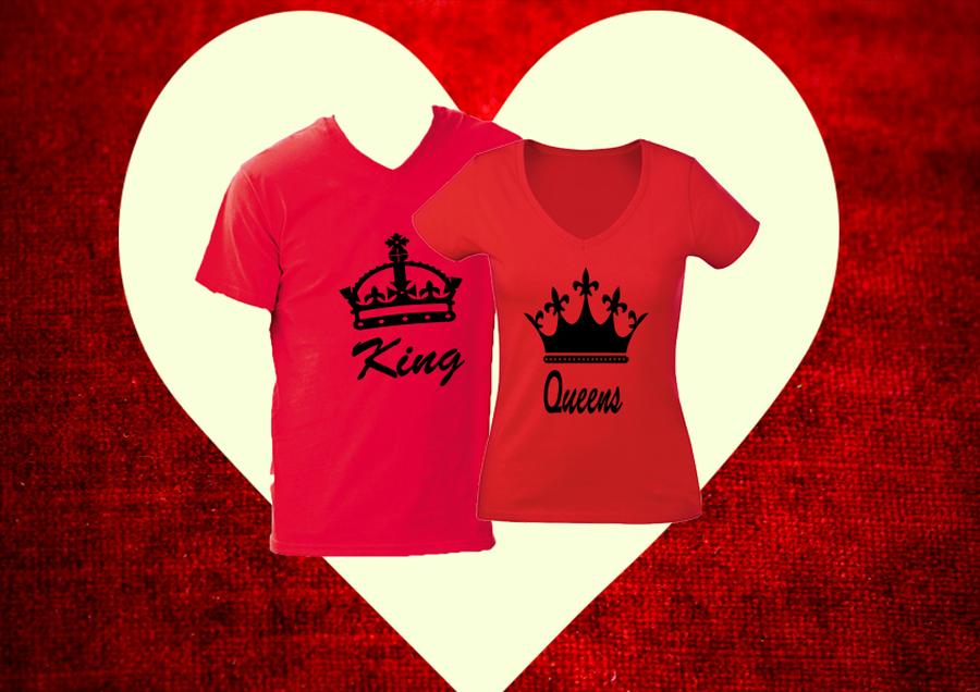 king és queen póló - A Páros pólók kategóriában - Póló Idő 9670954fcb