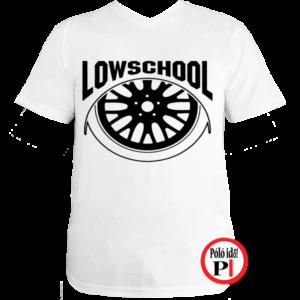 autós póló lowschool fehér