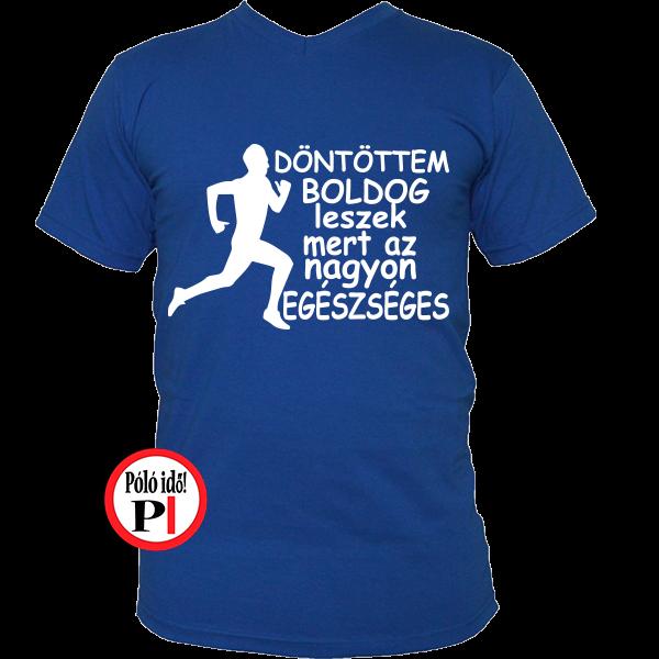 futópóló boldog leszek férfi kék