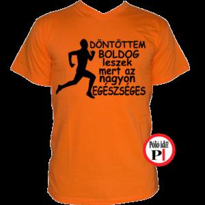 futópóló boldog leszek férfi narancs