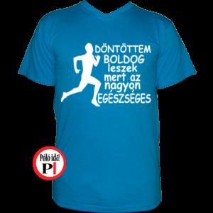 futópóló boldog leszek férfi világos kék