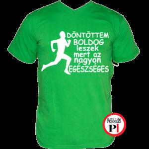 futópóló boldog leszek férfi zöld