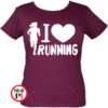 futópóló női i love running burgundi