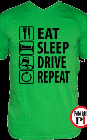 halálos iramban póló eat sleep drive zöld