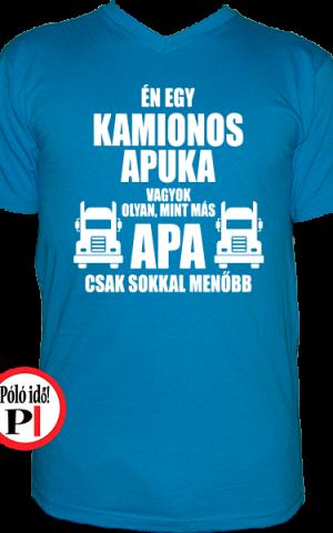 kamionos póló a legjobb apuka világos kék