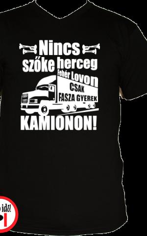 kamionos póló fasza gyerek fekete