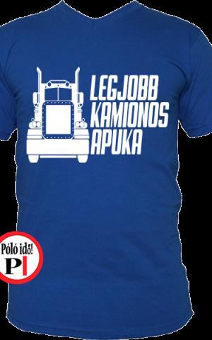 kamionos póló legjobb apuka kék