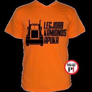 kamionos póló legjobb apuka narancs