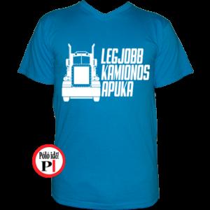 kamionos póló legjobb apuka világos kék