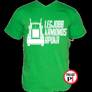kamionos póló legjobb apuka zöld