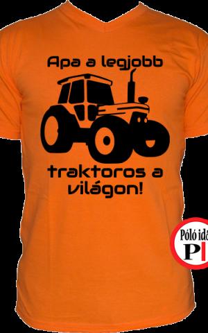 traktoros póló apa a legjobb narancs