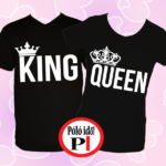 king queen páros pólók fekete