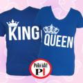 king queen páros pólók kék