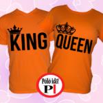 king queen páros pólók narancs