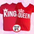 king queen páros pólók piros