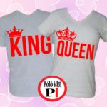 king queen páros pólók szürke