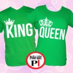 king queen páros pólók zöld