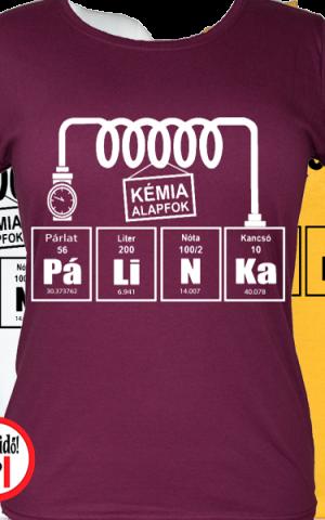 pálinkás kémia vicces póló női