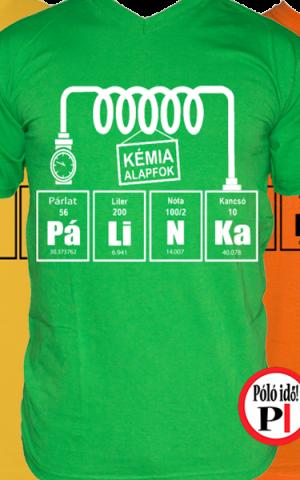 pálinkás kémia vicces póló