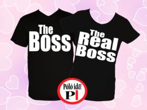 páros pólók főnök fekete