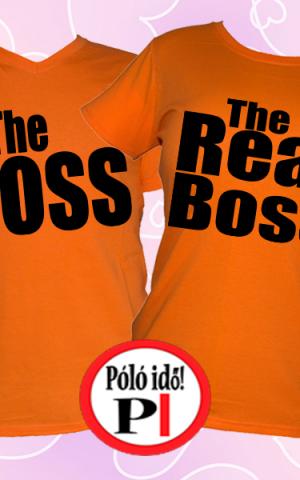 páros pólók főnök narancs