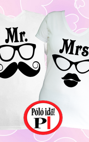 páros pólók mr and mrs fehér