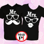 páros pólók mr and mrs fekete