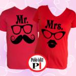 páros pólók mr and mrs piros