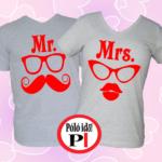 páros pólók mr and mrs szürke