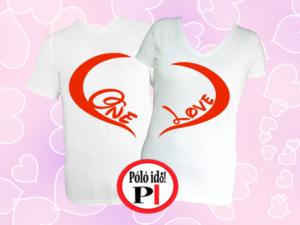 páros pólók one love fehér