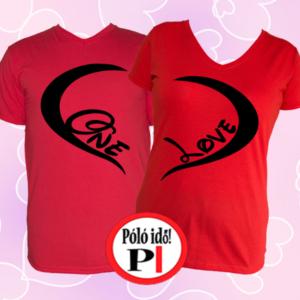 páros pólók one love piros