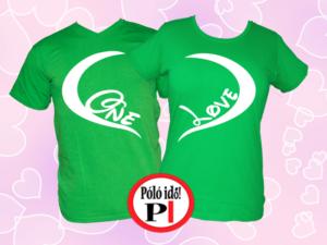páros pólók one love zöld