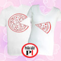 pizza páros pólók fehér