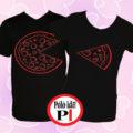 pizza páros pólók fekete