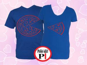 pizza páros pólók kék