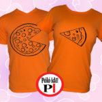 pizza páros pólók narancs