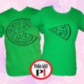 pizza páros pólók zöld