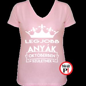 szülinapi anya póló október pink