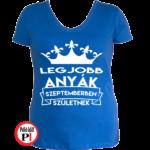 szülinapi póló szeptemberben kék