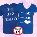 valentin napi ajándék póló kék