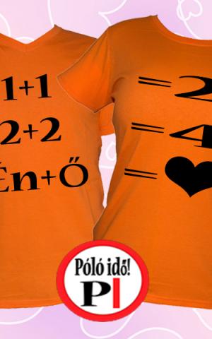 valentin napi ajándék póló narancs