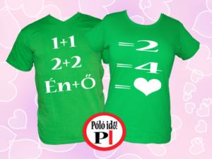 valentin napi ajándék póló zöld