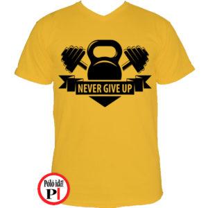 edző póló kettlebell citrom
