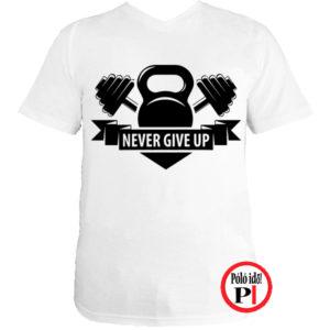 edző póló kettlebell fehér