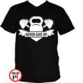 edző póló kettlebell fekete