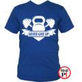 edző póló kettlebell kék